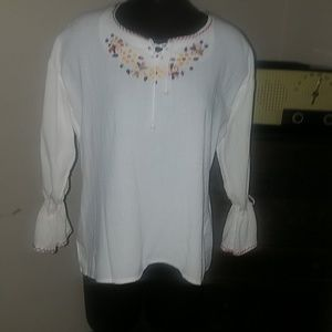 Embroidered  boho Latin American style top